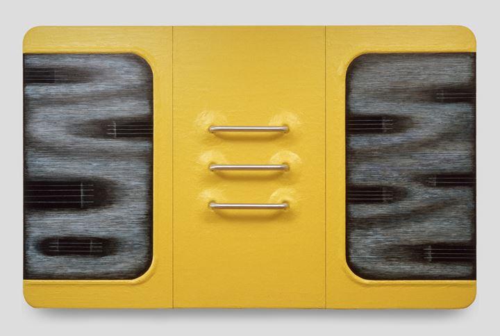 Tishan Hsu, Liquid Circuit (1987). Acrylic, compound, alkyd, oil, aluminium on wood. 229 x 363 x 23 cm. Frederick R. Weisman Art Museum, Minneapolis.