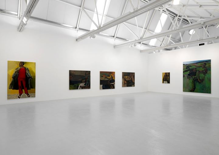 Exhibition view: Lynette Yiadom-Boakye, Corvi-Mora, London (5 September–26 October 2019). Courtesy Corvi-Mora.