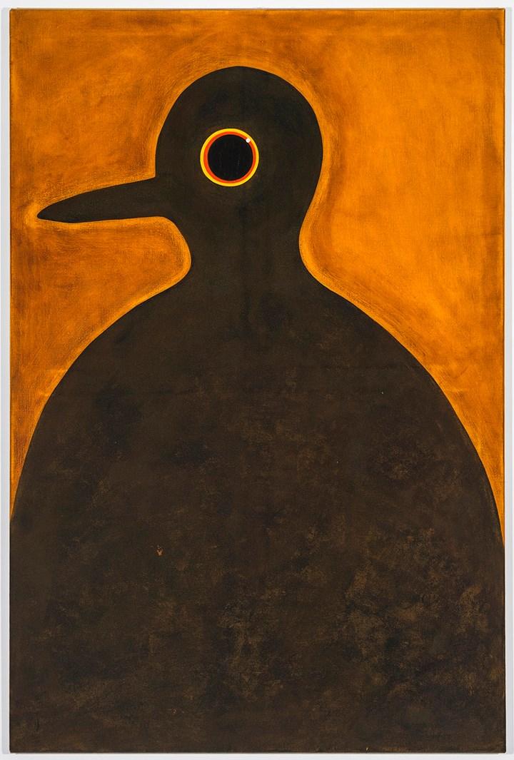 Dorora Jurczak, Brama (2014). Ink and acrylic on canvas. 121 x 82 cm. Courtesy the artist and Corvi-Mora.