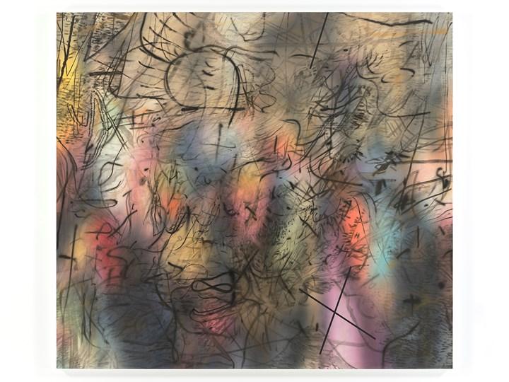 Julie Mehretu, Sing, Unburied, Sing (J.W.) (2018). Ink and acrylic on canvas. 274.3 x 304.8 cm. © Julie Mehretu. Courtesy the Artist, White Cube and Marian Goodman Gallery, New York. Photo: Tom Powel Imaging, Inc.