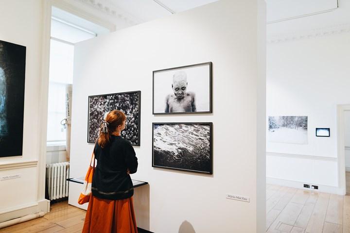 Mário Macilau, 'Faith' (2018). Limited edition archival pigment prints. Exhibition view: Ed Cross Fine Art, 1-54 Contemporary African Art Fair, London (4–7 October 2018). Courtesy Ed Cross Fine Art. Photo: © Katrina Sorrentino.