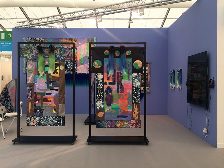 Works by Zadie Xa on view at Union Pacific, Frieze London (4–7 October 2018). Courtesy Union Pacific.