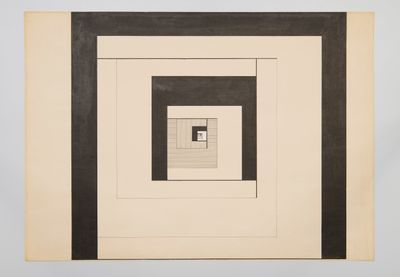 Lothar Charoux, Untitled (c.1950). China ink on paper. 49.5 x 69.5 cm.