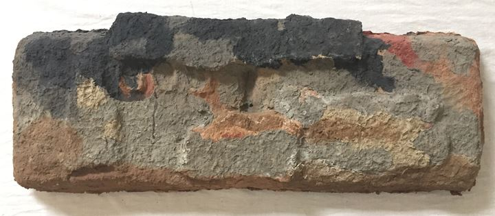 Shambhavi, Bhurukuwa 25 (2019). Clay, cotton, pulp, husk, and colour pigment. 99.82 x 40.89 cm. Courtesy the artist and Shrine Empire Gallery.