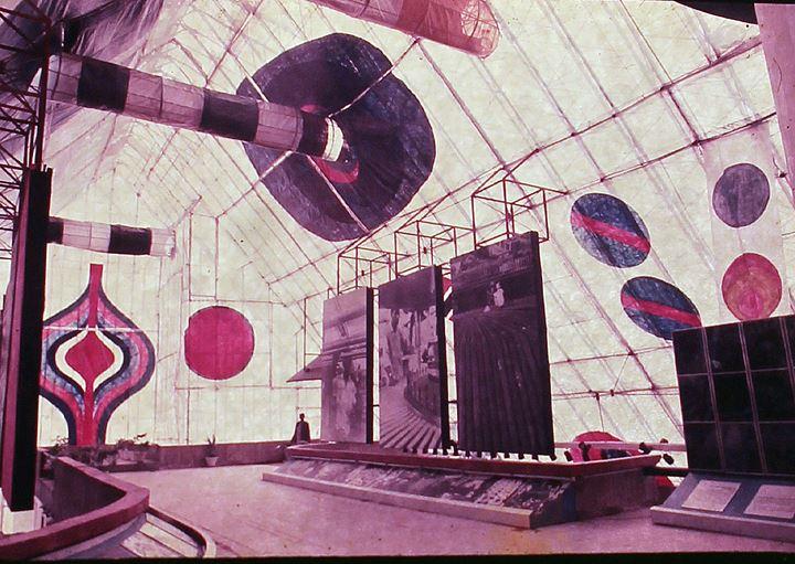 Riten Mozumdar, BHEL Asia Pavilion Sheathing designed in 1972. Courtesy Chatterjee & Lal.