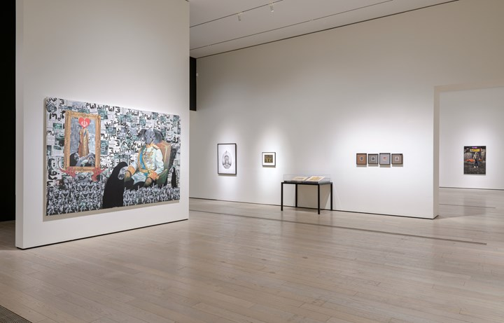 Exhibition view: In the Fields of Empty Days: The Intersection of Past and Present in Iranian Art, Los Angeles County Museum of Art (6 May–9 September 2018). © Siamak Filizadeh. Photo: © Museum Associates/LACMA.
