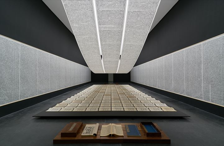 Exhibition view: Xu Bing: Thought and Method, UCCA Center for Contemporary Art, Beijing (21 July–21 October 2018). Courtesy UCCA Center for Contemporary Art.