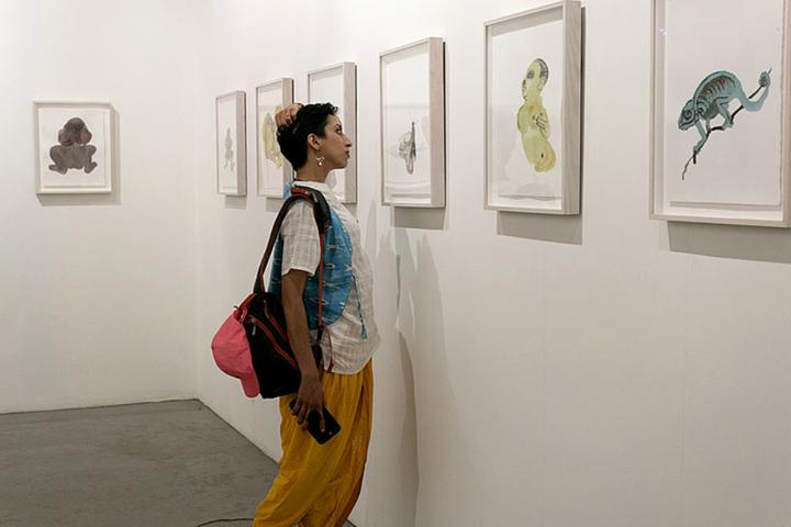 Marlene Dumas, 'Vocabulary' (2018). Exhibition view: Possibilities for a Non-Alienated Life, Kochi-Muziris Biennale, Kochi (12 December 2018–29 March 2019). Courtesy Kochi Biennale Foundation.