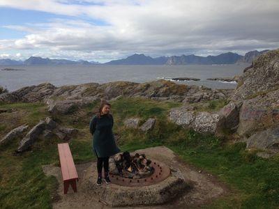 Elin Már Øyen Vister, Dear Henningsvær And The Ocean That Embraces You! (2017). Audio walk and sensory tour. I Taste the Future, Lofoten International Arts Festival 2017, Lofoten (1 September–1 October 2017). Photo: Cathryn Drake.