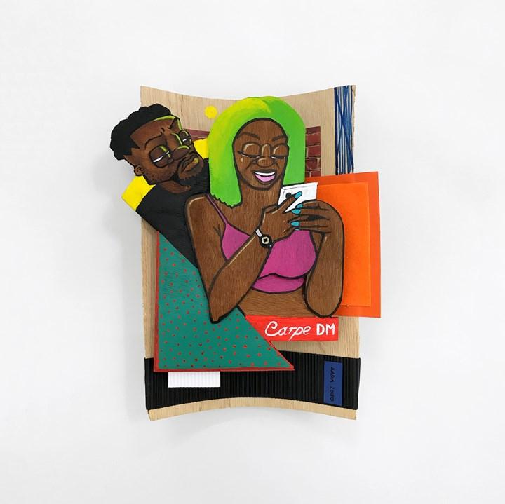 Dada Khanyisa, Carpe DM (2018). Mixed media. 35 x 28 x 8 cm. Courtesy the artist and Stevenson, Cape Town/Johannesburg.