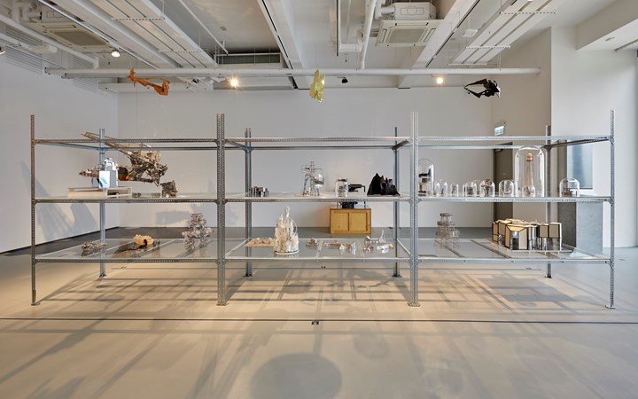 Maquettes by Lee Bul on view in Five Artists: Sites Encountered, M+ Pavilion, Hong Kong (7 June–10 October 2019). Courtesy M+, Hong Kong.