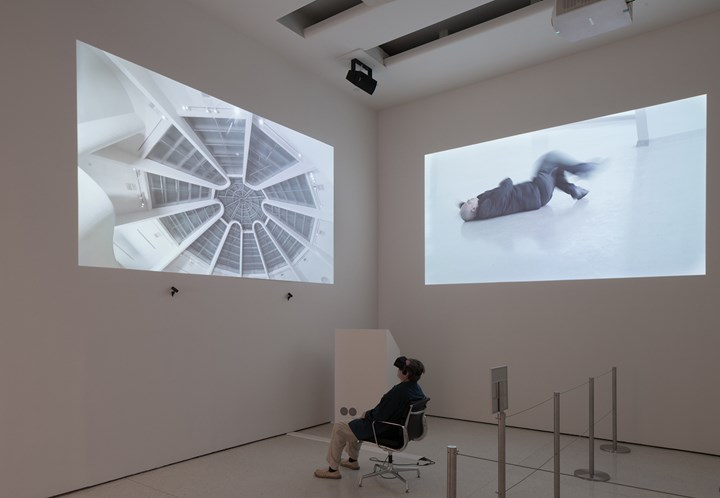 Lin Yilin, Monad (2018). Multimedia installation, three parts. Solomon R. Guggenheim Museum, New York, The Robert H. N. Ho Family Foundation Collection 2018.16.1–3 © Lin Yilin. Exhibition view: One Hand Clapping, Solomon R. Guggenheim Museum, New York, (4 May–21 October 2018). Photo: David Heald © 2018 The Solomon R. Guggenheim Foundation.