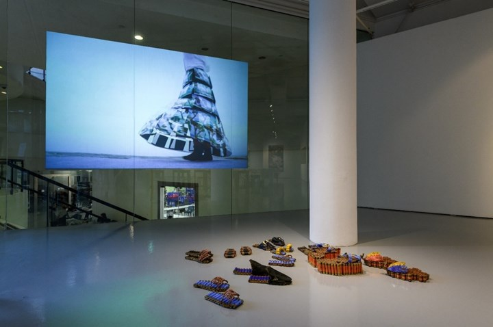 Exhibition view: Moving Pledges: Art and action in Southeast Asia, Institute of Contemporary Arts Singapore, LASALLE College of the Arts (20 October–23 January 2019). Courtesy Institute of Contemporary Art Singapore, LASALLE College of the Arts.