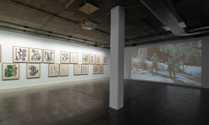 Exhibition view: Tjungu Palyangku Tjukurpa titutjara kunpu ngaranytja-ku: As we come together we stand strong for our story, Artbank, Sydney (18 July–8 November 2019). Courtesy Artbank.