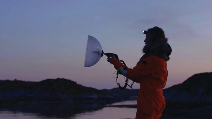 Ursula Biemann, Acoustic Ocean (2018) (still). Video installation, colour, sound. 18 min. Courtesy the artist.