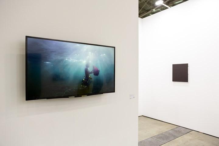 """Martha Atienza's Our Islands 11°16'58.4""""N 123°45'07.0""""E (2017). Exhibition view: Silverlens, Taipei Dangdai (18–20 January 2019). Courtesy Taipei Dangdai."""