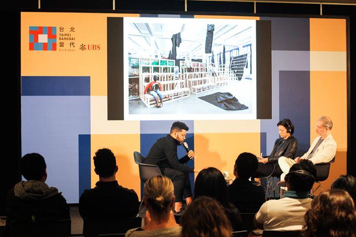 Artist Talk: Oscar Murillo, Ideas program, Taipei Dangdai, Nangang Exhibition Center (17–19 January 2020). Courtesy Taipei Dangdai.