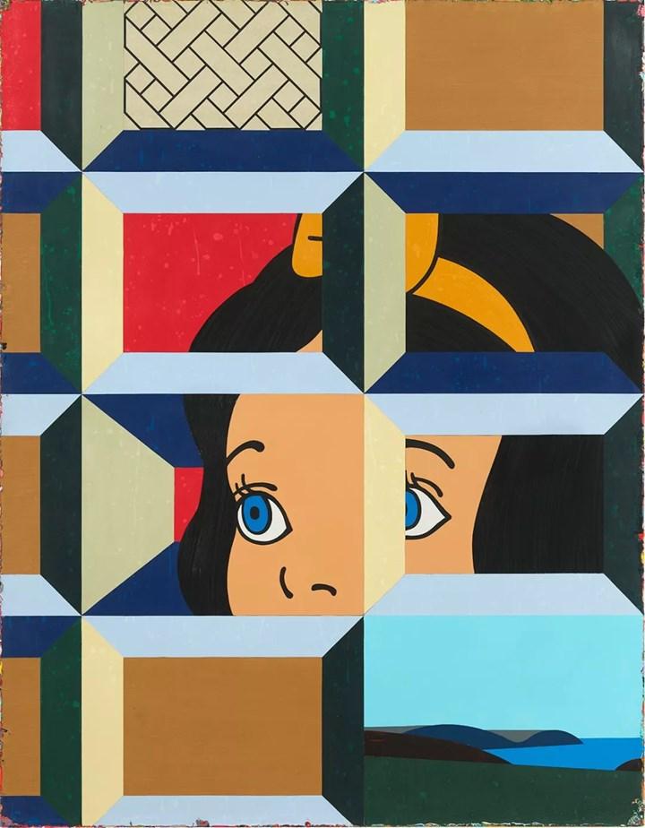 Lai Chiu-Chen, Snow White Wants to Sneak Away to the Beach 想偷溜去海邊的白雪公主 (2018). Acrylic on canvas. 180 x 140 cm. Copyright the artist. Courtesy Lin & Lin Gallery, Taipei.