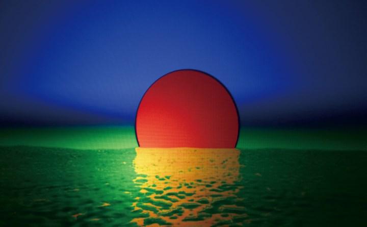 Cai Kai, Sunrise on the Sea (2014). Single-channel video (colour, silent, loop) projection. 1 min 16 sec. Courtesy the artist.
