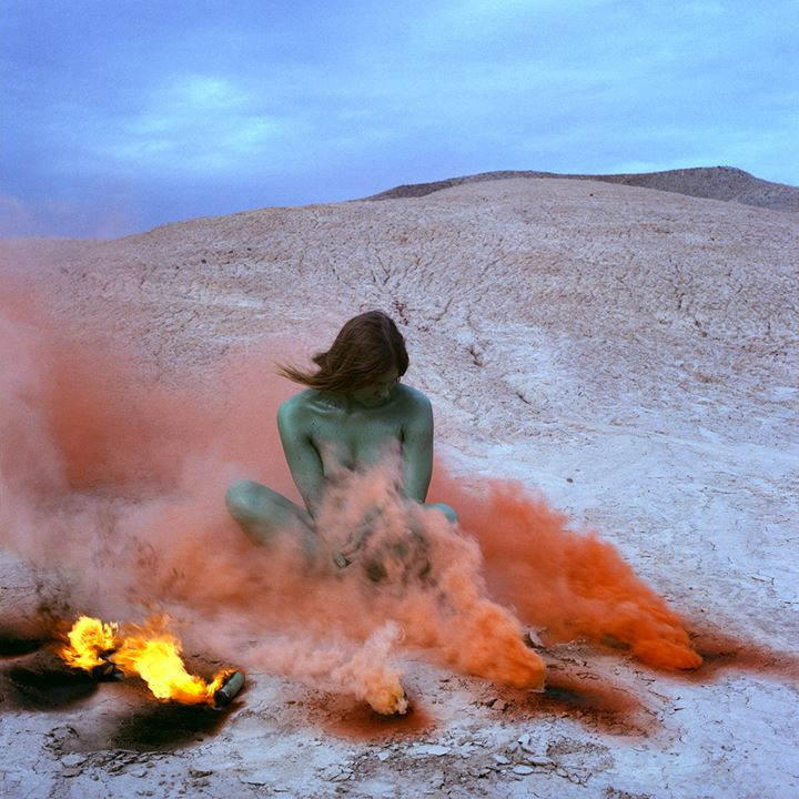 Judy Chicago, Immolation (1972/2019). Archival pigment print. 91.44 x 91.44 cm. © Judy Chicago/Artist Rights Society, NY. Courtesy Through the Flower Archives. Courtesy the artist; Salon 94, New York; and Jessica Silverman Gallery, San Francisco.