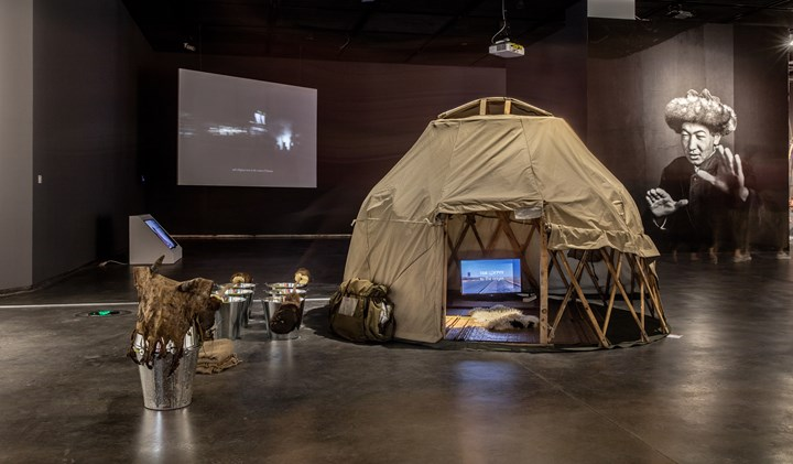 Enkhbold Togmidshiirev, My Ger (2017–2018). Exhibition view: Starting from the Desert: Ecologies on the Edge, 2nd Yinchuan Biennale, MOCA Yinchuan (9 June–30 September 2018). Courtesy MOCA Yinchuan.