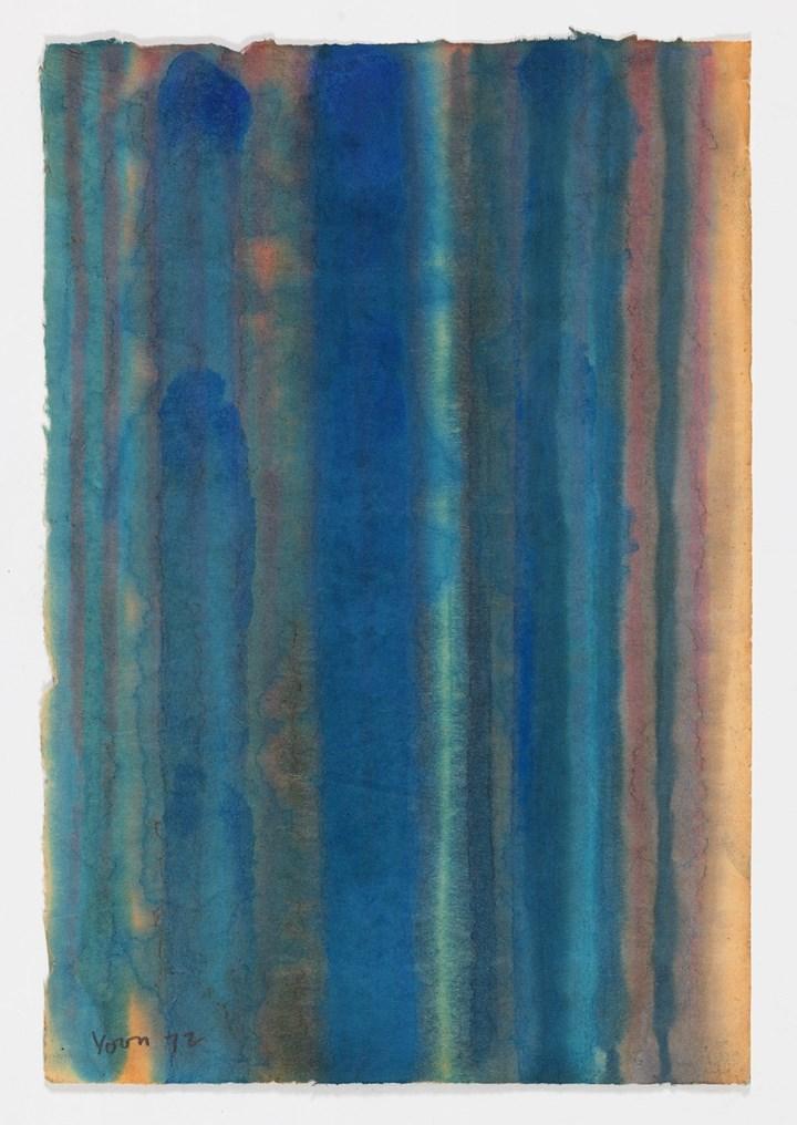 Yun Hyong-keun, Untitled (1972). Oil on Hanji (Korean mulberry paper). 49 x 33 cm. Courtesy Yun Hyong-keun Estate. Photo: © Yun Seong-ryeol.