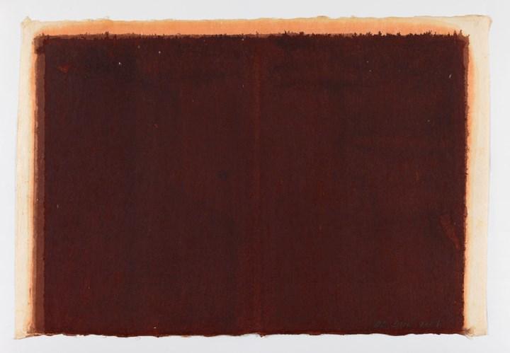 Burnt Umber & Ultramarine (2001). Oil on Hanji. 65 x 95 cm. Courtesy Yun Hyong-keun Estate. Photo: © Yun Seong-ryeol.