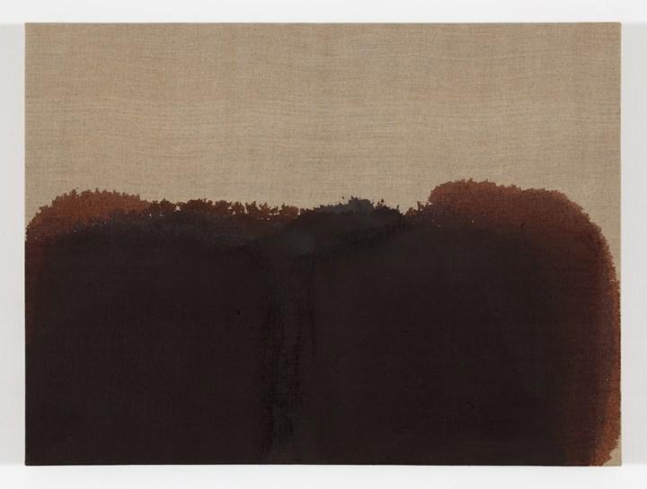 Yun Hyong-keun, Burnt Umber & Ultramarine (1989). Oil on linen. 45.5 x 61 cm. Courtesy Yun Hyong-keun Estate. Photo: © Yun Seong-ryeol.