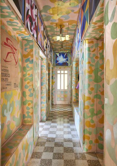 Casa Balla, Via Oslavia, Rome. Hallway. © Giacomo Balla, by SIAE 2021.