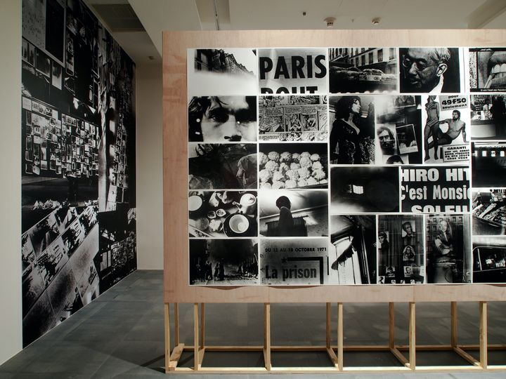 An installation image of Takuma Nakahira's series of photography works titled 'Circulation: Date, Places, Events' (1971) in the PROVOKE –Opposing Centrism exhibition at Kuandu Museum of Fine Arts, Taipei