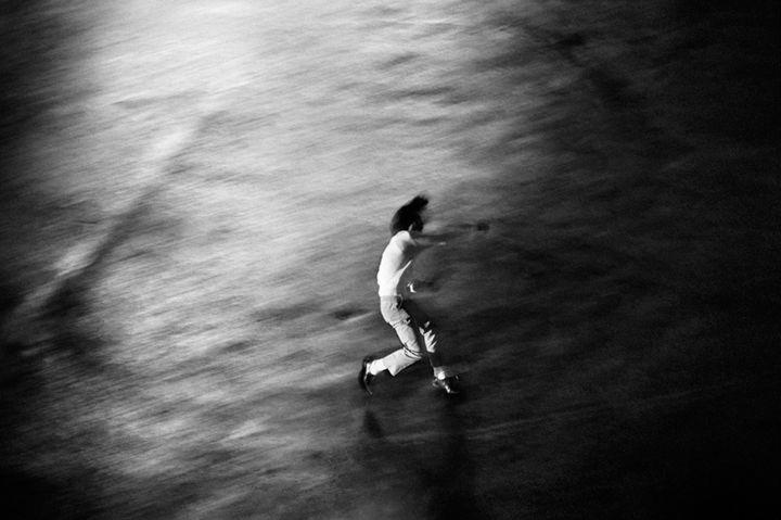Photography by Shomei Tomatsu titled 'Oh! Shinjuku' (1969)