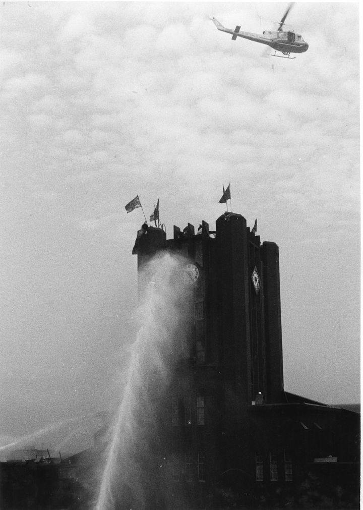 Photography by Hitomi Watanabe titled 'The University of Tokyo Zenkyoto' (1968–1969)