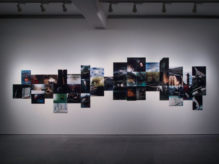 An installation view of photography works by Takuma Nakahira titled 'Overflow' (1974/2018).