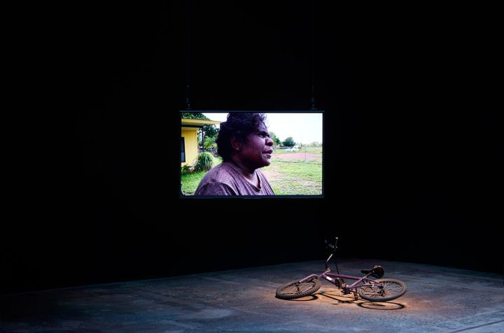 Karrabing Film Collective, A Day in the Life (2020). Exhibition view: The National 2021: New Australian Art, Carriageworks, Sydney (26 March–20 June 2021). Courtesy © the artists. Photo: Zan Wimberley.