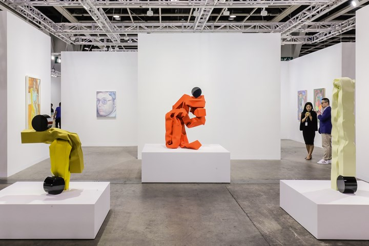 Sculptures by Carol Bove on view at David Zwirner, Art Basel in Hong Kong (29–31 March 2019). Courtesy Ocula. Photo: Charles Roussel.