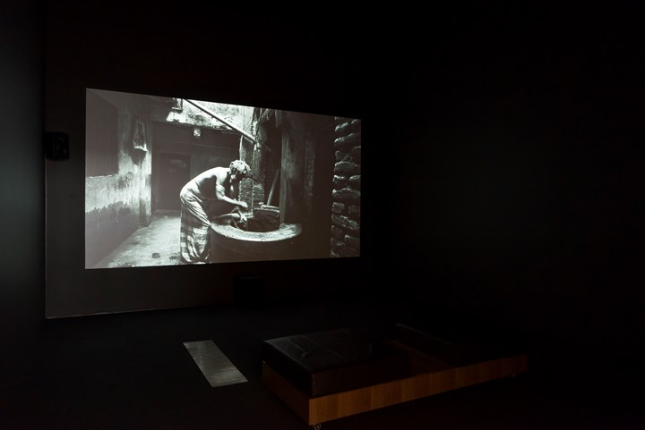 Munem Wasif, Kheyal (2015–2018). Single-channel video, black and white, sound 16:9. 23 min 34 sec. Exhibition view: 9th Asia Pacific Triennial of Contemporary Art (APT), Queensland Art Gallery | Gallery of Modern Art, Brisbane (24 November 2018–28 April 2019). Courtesy the artist and Queensland Art Gallery | Gallery of Modern Art. Photo: Natasha Harth.
