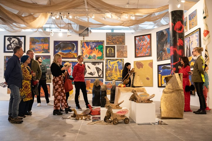 Opening Reception for Kyzyl Tractor Art Collective, 'Focus Kazakhstan -Thinking Collections: Telling Tales', ACAW Signature Exhibition, Mana Contemporary, Jersey City (14 October 2018). Courtesy Asia Contemporary Art Week.