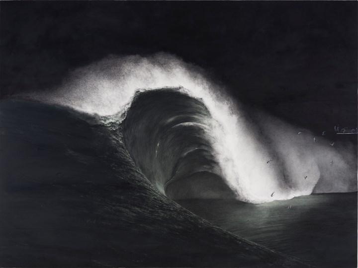 Shiori Eda, Tsunami (2014). Oil on canvas. 194 x 259 x 3 cm. Courtesy the artist.