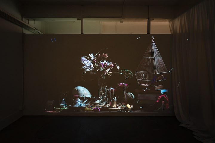 Dipali Gupta, The Little Death (2018). Exhibition view: Fan Death in Bedroom, Bedroom, Hong Kong (16 September–25 November 2018). Courtesy Bedroom. Photo: Kwan Sheung Chi.