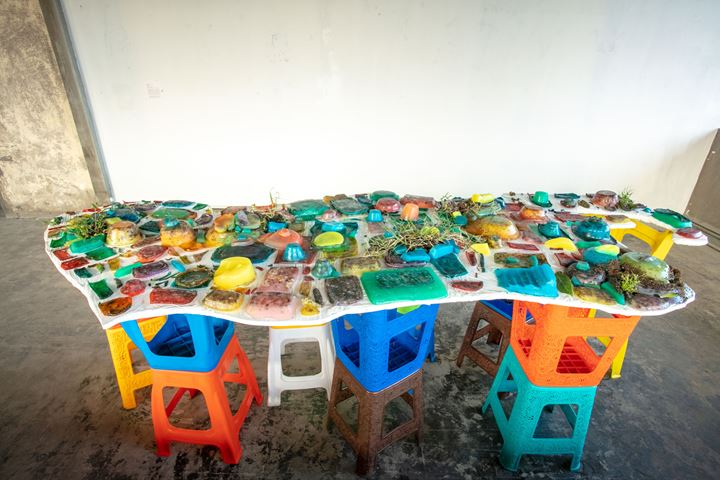 Tom Bogaert, Ant Farm Lagos (2019). Exhibition view: How to Build a Lagoon With Just A Bottle of Wine?, Lagos Biennial (26 October–23 November 2019). Courtesy Lagos Biennial.