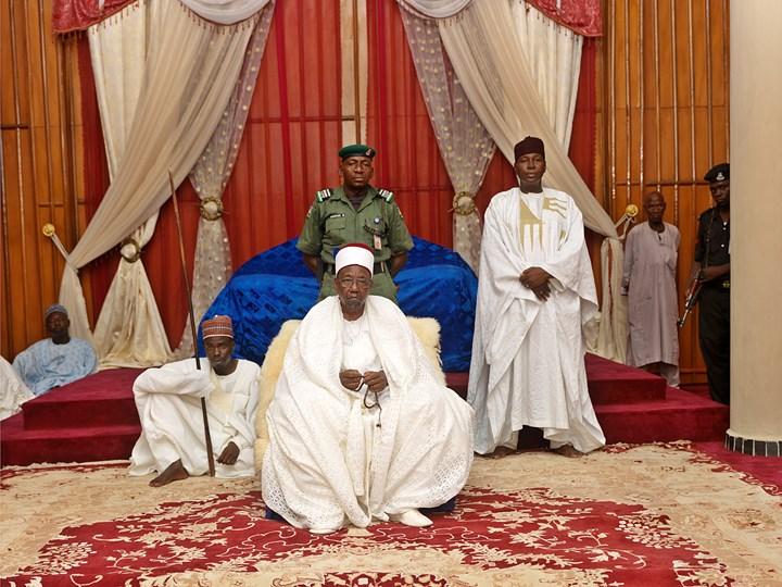 George Osodi, Nigerian Monarchs (HRH Shehu of Borno Empire Abubakar Umar Garbai El Kanemi) (2016). Courtesy the artist.