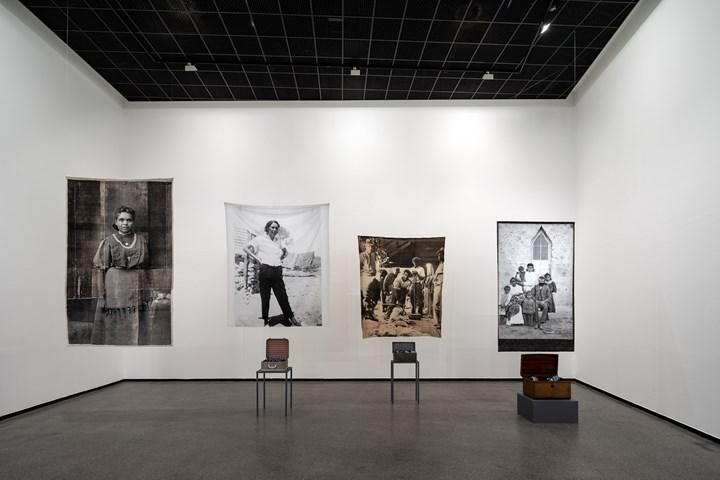 Yhonnie Scarce, 'Remember Royalty' (2018). Exhibition view: Lightness of Spirit is the Measure of Happiness, Australian Centre for Contemporary Art, Melbourne (7 July–16 September 2018). Courtesy the artist and This is No Fantasy + Dianne Tanzer Gallery, Melbourne. Photo: Andrew Curtis