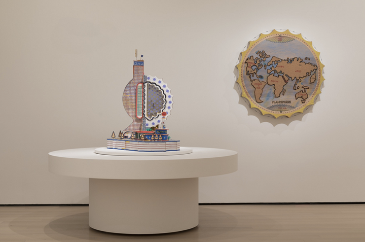 Exhibition view: Bodys Isek Kingelez: City Dreams, Museum of Modern Art, New York (26 May 2018–1 January 2019). Photograph by Denis Doorly.