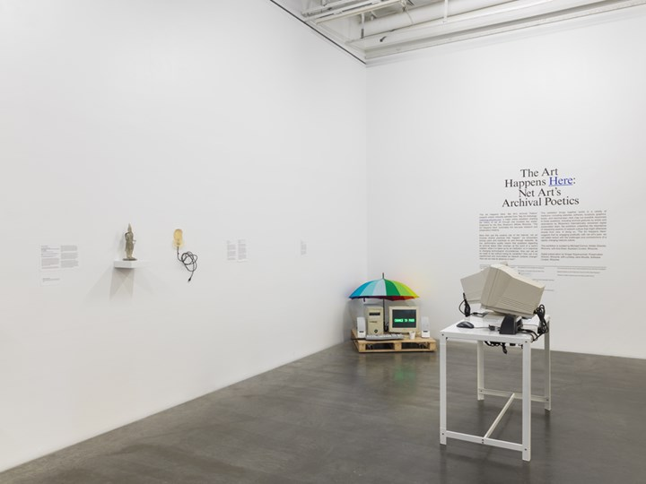 Exhibition view: The Art Happens Here: Net Art's Archival Poetics, New Museum, New York (22 January–26 May 2019). Courtesy New Museum. Photo: Maris Hutchinson / EPW Studio.