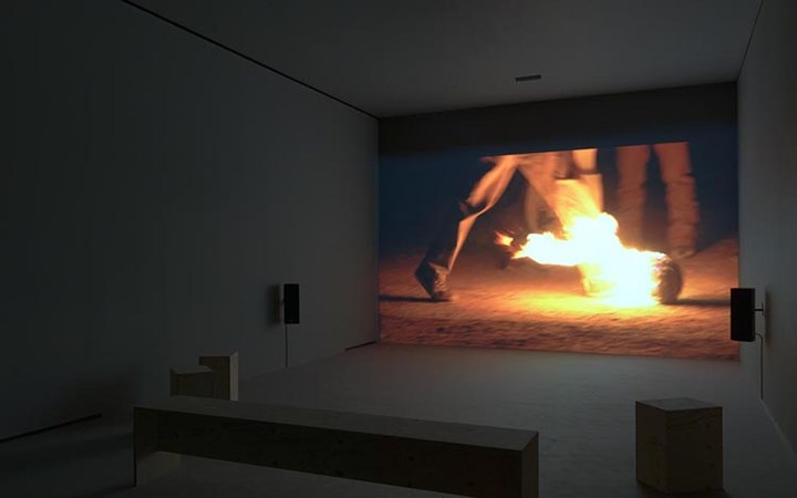 Exhibition view, Francis Alÿs, Ciudad Juárez projects (2016), David Zwirner, London. Courtesy David Zwirner.