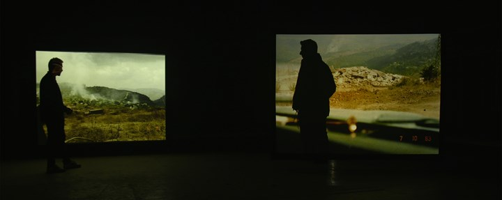 Lawrence Abu Hamdan, Once Removed (2019) (production still). Video installation, loop. Commissioned by Sharjah Art Foundation. Courtesy the artist.