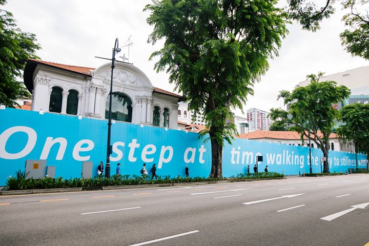Amanda Heng, Every Step Counts (2019). Exhibition view: Every Step in the Right Direction, Singapore Biennale 2019, Bras Basah Road, Singapore (22 November 2019–22 March 2020). Courtesy Singapore Art Museum.