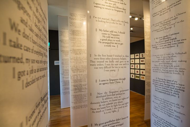 Verónica Troncoso, Telling stories from outside and inside (2019). Exhibition view: Every Step in the Right Direction, Singapore Biennale 2019, National Gallery Singapore, Singapore (22 November 2019–22 March 2020). Courtesy Singapore Art Museum.