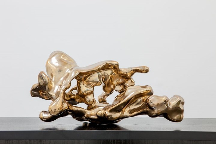 Lindy Lee, Flame from the Dragon's Pearl – Fluid as Ice (2013). Bronze. 30 x 60 x 40 cm. Edition of 3. Courtesy the artist and Sullivan+Strumpf.