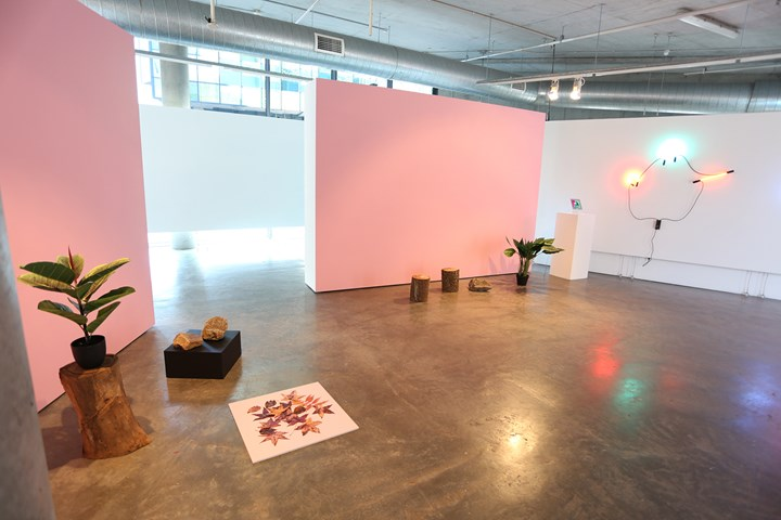 Exhibition view: Jessica Herrington and Anna Madeleine: Emotions invented by the Internet, Verge Gallery, Sydney (16 August–22 September 2018). Courtesy the artists and Verge Gallery.